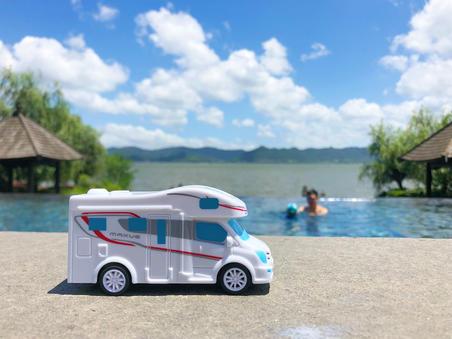 仲夏,宁波东钱湖畔的房车亲子游
