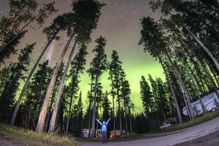 #你好,房车#行摄加拿大【3】在贾斯珀偶遇极光